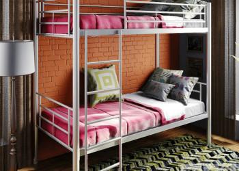 Двухъярусные металлические кровати