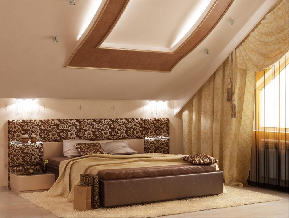 Спальни на мансарде дизайн фото