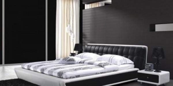 Черно белая спальня2
