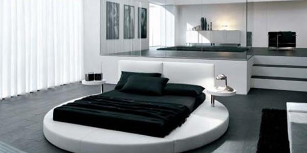 Черно белая спальня4