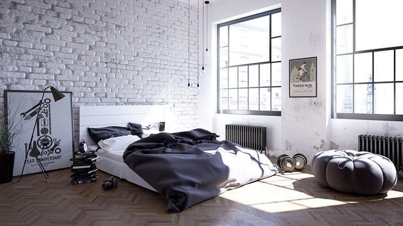 Спальня в силе лофт