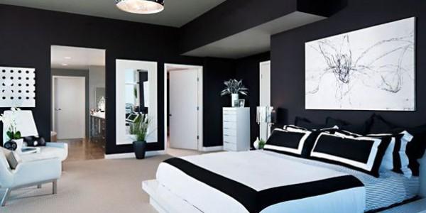 Черно белая спальня1