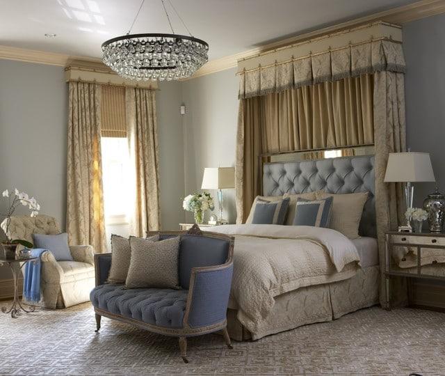 Планировка спальни в классическом стиле