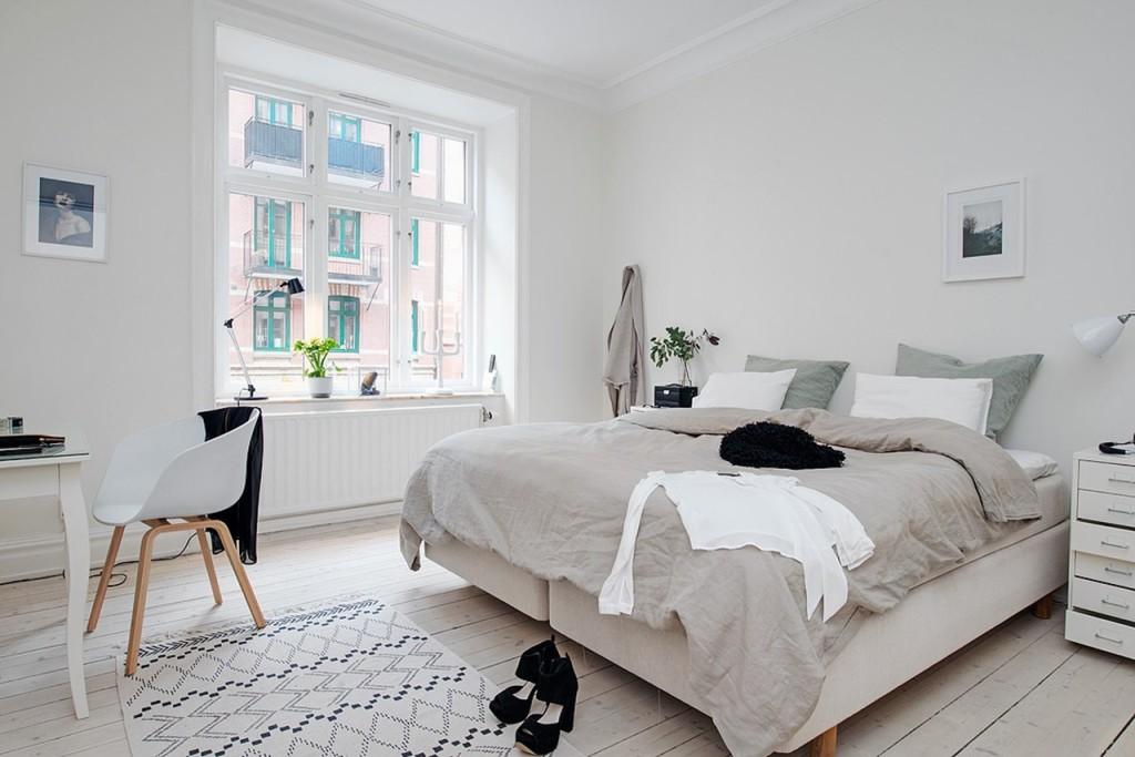 Спальня в скандинавском силе