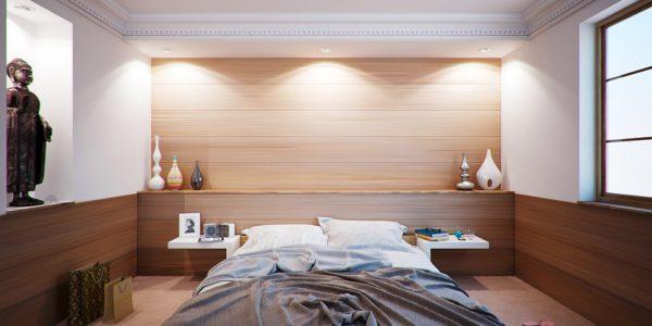 Спальня в пастльных тонах